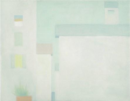 Antonio Calderara, Vicoli, 1958, olio su tavola, 14x19 cm, Collezione privata Foto Stefania Beretta, Verscio