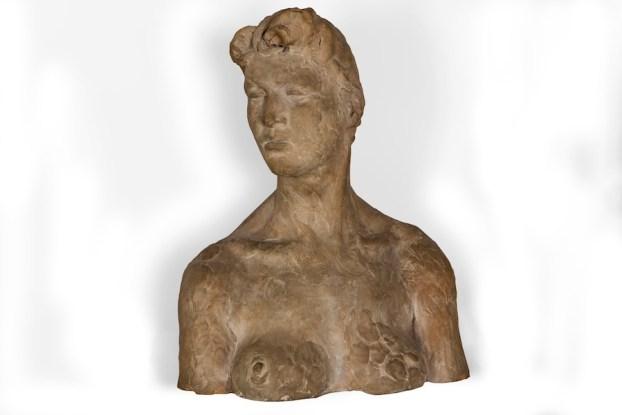 Fausto Melotti, Busto femminile, 1942, terracotta, 36x30x16 cm