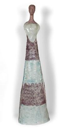 Fausto Melotti, Kore, 1955 circa, ceramica smaltata policroma, 107x33x27 cm