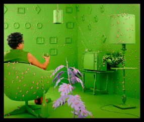 Sandy Skoglund, Germs are everywhere, 1984, color photograph, cm 71,56x78,75ca. Courtesy Paci Contemporary