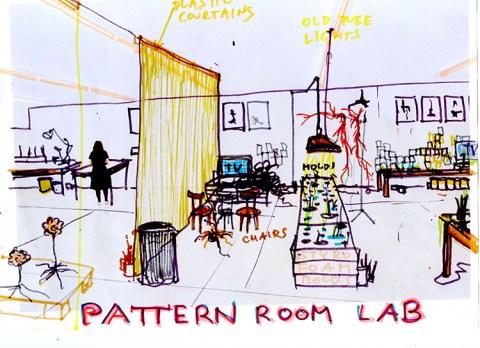 """Krištof Kintera, Progetto per il """"Laboratorio dell'artista"""" nella Pattern Room della Collezione Maramotti. Courtesy and © Krištof Kintera Ph. C. Archive of the artist"""