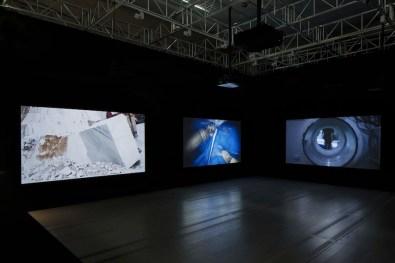 Lavoro in movimento. Lo sguardo della videocamera sul comportamento sociale ed economico, veduta della mostra (Ancarani), Mast Gallery, Bologna