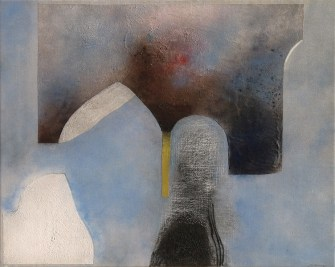 Giuseppe Santomaso, Corte Sconta, 1985, 81x100 cm