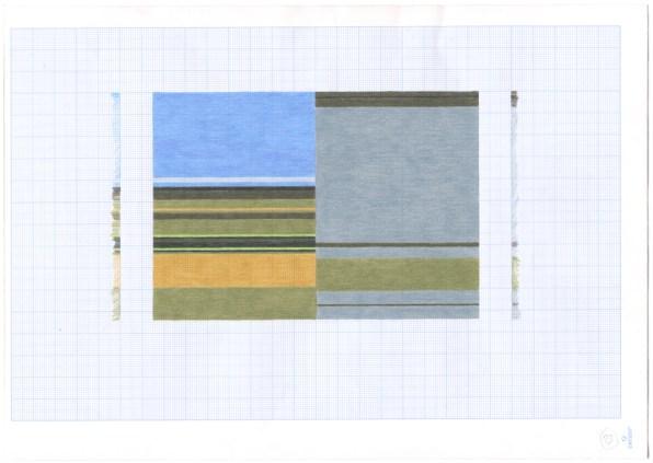 Patrizia Novello, Geografia #1 n13, 2015, pastello su carta Courtesy Nuova Galleria Morone, Milano