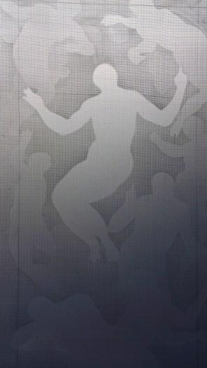 Giorgio Tentolini, Incongrue, 2016-17, cinque strati di rete in fibra intagliata a mano, 225x100 cm [riferimento: gli schizzi preparatori di Pontormo per il coro della basilica di San Lorenzo realizzati tra il 1546 e il 1556, distrutti per le connotazioni religiose non ortodosse verso il 1738]