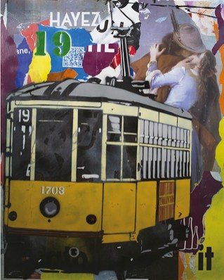 Italiancode, Street Named Desire, 2016, tecnica mista su tela, 120x100 cm