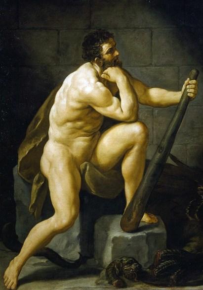 Guido Reni, Ercole dopo l'uccisione dell'Idra, 1620 circa, olio su tela, 224x175 cm, Firenze, Galleria Palatina