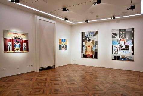 Sergio Sarri, veduta della mostra, Robilant + Voena, Milano