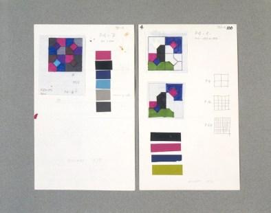 Bruno Munari, Due cornici con nove disegni progettuali delle Curve di Peano, 1974-1975 Foto Roberto Marossi Courtesy Fondazione Jacqueline Vodoz e Bruno Danese