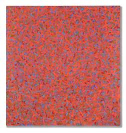 Paolo Iacchetti, Continuo, 2014, olio su carta su tavola, 110x105 cm Courtesy l'artista