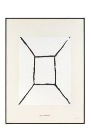Vincenzo Agnetti, Free-hand photograph (Fotografia eseguita a mano libera), 1974, carta fotografica immersa in bagno di sviluppo, 101x75 cm Courtesy Osart Gallery, Milano Foto di Bruno Bani