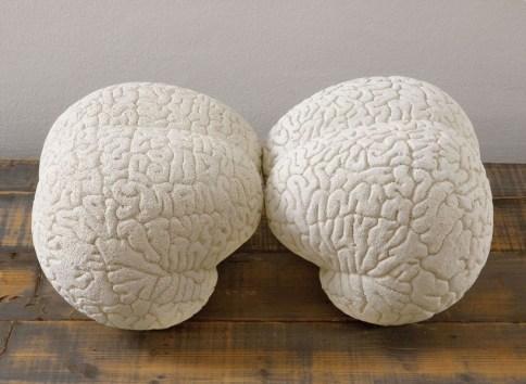 Claudia Losi, Brain (2 pieces), 2008, terracotta, aceto, 35x35x30 cm Courtesy Claudia Losi e Monica De Cardenas Gallery