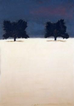 Carlo Mattioli, Il campo di grano, 1974, olio su tela, 93x66 cm, Collezione privata Crediti Archivio Mattioli
