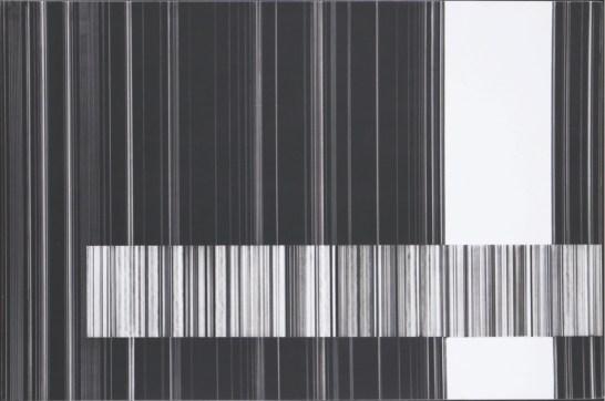Luc Peire, Graphie 1146, 1973, pittura e formica, 30x45 cm Courtesy Lorenzelli Arte, Milano