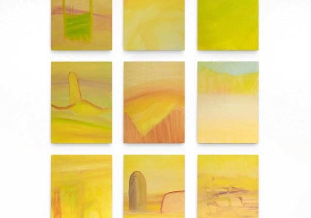 Ottavia Plazza (Alessandria 1992), Squash, 2016, olio su tela, 9 tele da 40x30 cm ciascuna