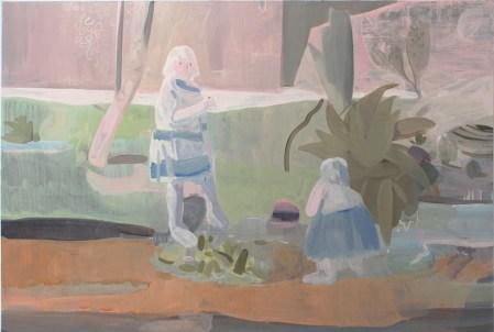 Wang Hao (provincia dello ShanDong, Cina 1989), Senza titolo, 2016, olio su tela, 80x120 cm