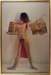 Luigi Ontani, David Ratto, Anamorpose, 1974/2008, Lenticular photograh, 194x132 cm Photo credit Giorgio Benni
