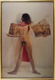 Luigi Ontani, David Ratto, Anamorpose, 1974/2008, Lenticular photograh, 194x132 cm Photo credit Giorgio Benni