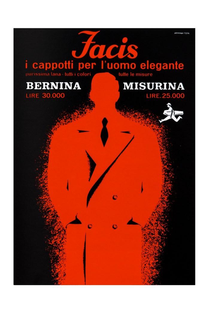 Armando Testa, Facis Bernina Misurina, 1956. Courtesy: Collezione Gemma De Angelis Testa