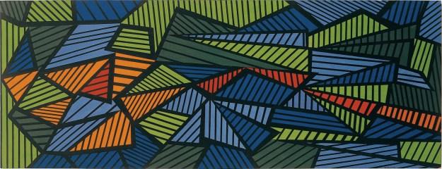 Mario Nigro, Pittura: fuga, 1952, olio su tavola, 68x178 cm Collezione privata, Milano
