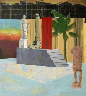 Paolo De Biasi, In nessun modo ancora, 2017, acrilico su tela, 100x90 cm