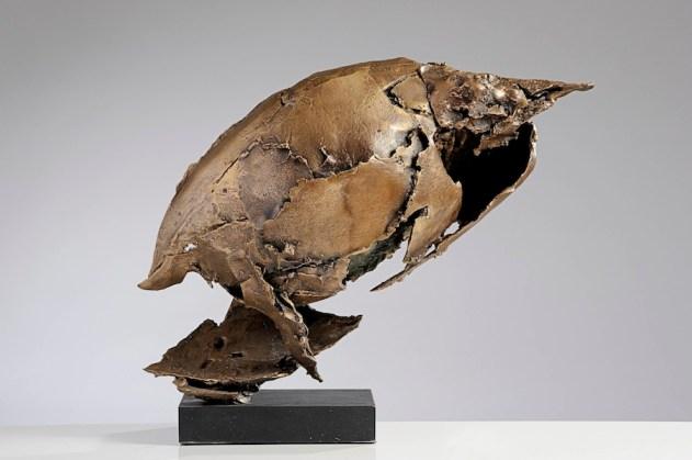 Quinto Ghermandi, Metamorfosi, 1961, bronzo patinato, 41x45x28 cm