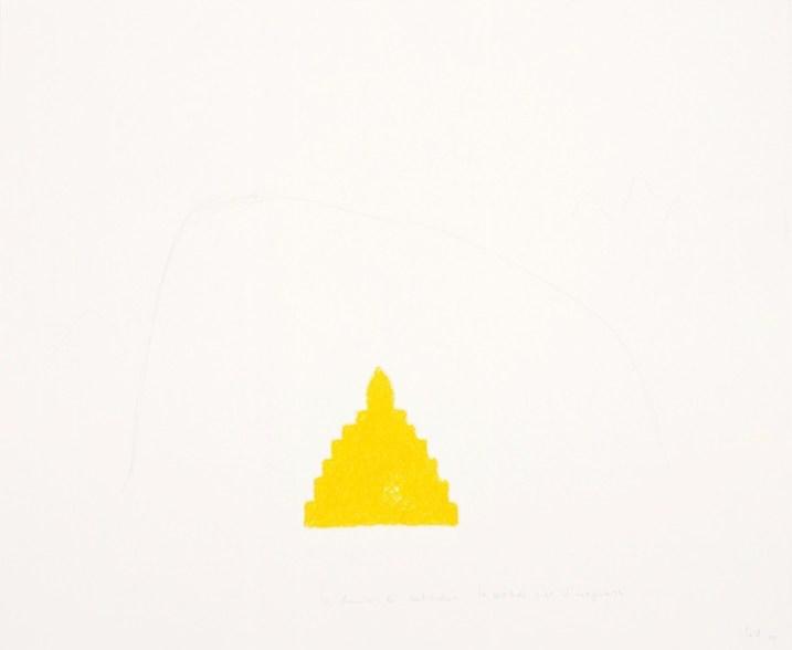 Wolfgang Laib, La chambre des certitudes – La certitude c'est l'imaginaire, 2000, pastello a olio e matita su carta Collezione privata © 2017, ProLitteris, Zürich