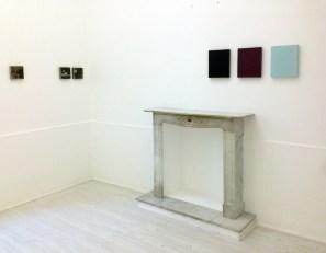 Aspetti di superficie: Sonia Costantini, Marco Mendeni, Stan Van Steendam, veduta della mostra (Marco Mendeni e Sonia Costantini), Theca Gallery, Milano