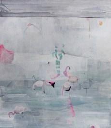 Federica Giulianini, Il momento del passaggio, 2016, tecnica mista su tavola, cm. 70x60