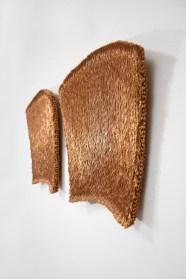 Antonella Zazzera, Armonico CCLIV / CCXLV, 2014-15, fili di rame, due elementi, 51x51x8 cm ciascuno