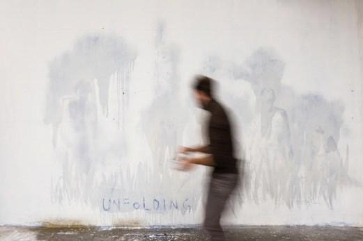Matteo Montani. Unfolding, performance, Galleria Nicola Pedana, Caserta