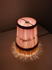 Les amabilitee 2012 - tessuto metallo fili e illuminazione cm. 15x11