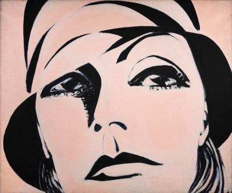Titina Maselli, Greta Garbo, 1969, acrilico su tela, 100x130 cm Foto Fabrizio Stipari / CreVal