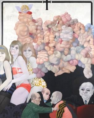 Carlos Mensa, Tre donne, 1969, olio su tela, 130x160 cm Foto Fabrizio Stipari / CreVal