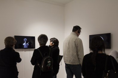 Mounir Fatmi. Transition State, veduta dell'opening, Officine dell'Immagine, Milano Foto Elena Radice