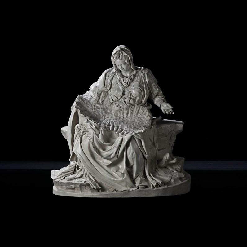 Souvenir Pietà (Madre), 2017, white marble, cm 174,2x165,7x89,2