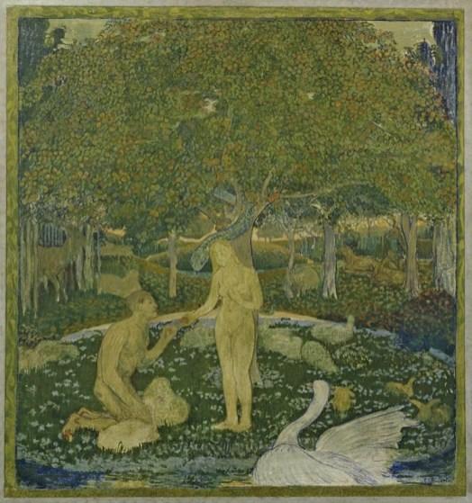Cuno Amiet, Ragazza bretone sotto gli alberi, 1893, olio su cartone, 64 x 53 cm, Collezione privata © M.+D. Thalmann, Herzogenbuchsee Photo SIK-ISEA, Zurigo