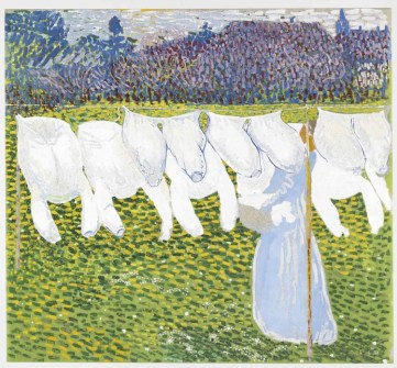 Cuno Amiet, Il bucato, 1904, olio su eternit, 92.5 x 100 cm, Collezione privata © M.+D. Thalmann, Herzogenbuchsee Photo SIK-ISEA, Zurigo (Philipp Hitz)