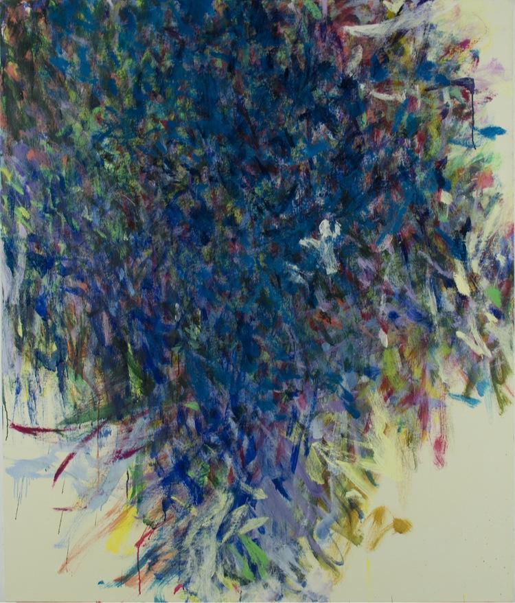 Ayako Nakamiya, Traccia di sole, 2017, olio su tela, 130x110 cm Courtesy l'artista