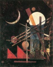 Wassily Kandinsky, Sichel (Falce), 1926, olio su cartone, 42x33 cm, Milano, Collezione privata