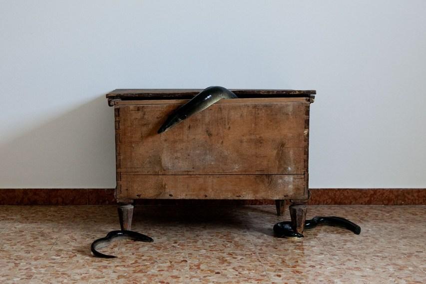 Silvia Bigi, Il corredo della sposa, 2017, dalla serie L'albero del latte, stampa giclée, 80x120 cm