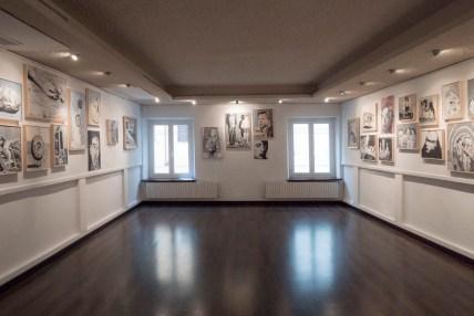Veduta della mostra ANDREA SALTINI. Ritual de lo Habitual. 51 opere fatali. Courtesy Rizzomi Art Brut