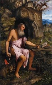 Girolamo Romani detto Romanino, San Gerolamo penitente, 1516-1517, olio su tavola, cm 151x92, Brescia, Pinacoteca Tosio Martinengo © Fondazione Brescia Musei
