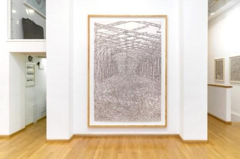 Elisabeth Scherffig. Outlook/Ausblick, veduta della mostra, Nuova Galleria Morone, Milano