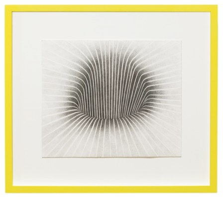 Barbara De Ponti, Novum Locus Amoenus 1 from the series Time Code, 2017, graphite on paper, cm 40x45 © Barbara De Ponti Courtesy Viasaterna, Milano