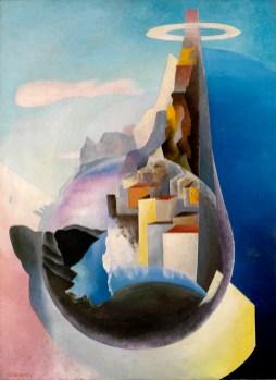 """Benedetta, Cime arse di solitudine, 1936, Olio su tela, 130,5 x 95 cm. Museo dell'Aeronautica """"Gianni Caproni"""", Trento"""