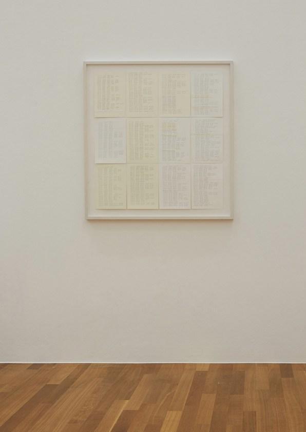 Jens Risch, Notes for silk piece, Year block, 2016, cm 100x100 © Jens Risch Courtesy Viasaterna - Bischoff Projects Photo by Joerg Baumann