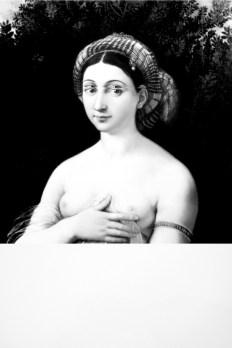 Mariella Bettineschi, L'era successiva (Raffaello, La Fornarina), 2010, pittura digitale e stampa diretta su plexiglas, 120x80 cm, tiratura 3 esemplari, Collezione privata, Roma
