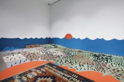 Alighiero Boetti. Il mondo fantastico, veduta della mostra (particolare di Zoo, 1979), Dep Art, Milano Foto Bruno Bani Courtesy Dep Art, Milano