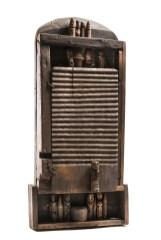 Franca Ghitti, Madia, 1981, legno e fili di ferro, 95x55x18 cm Archivio Franca Ghitti, Cellatica Foto Fabio Cattabiani
